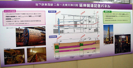 080116_地下鉄東西線 二条−太秦天神川間 延伸開通記念パネル