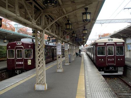 081118_嵐山駅・2300系・7000系
