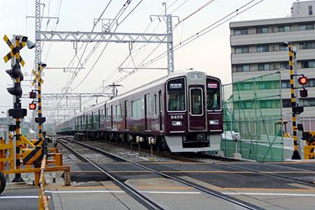 090618_摂津市駅工事・9300系