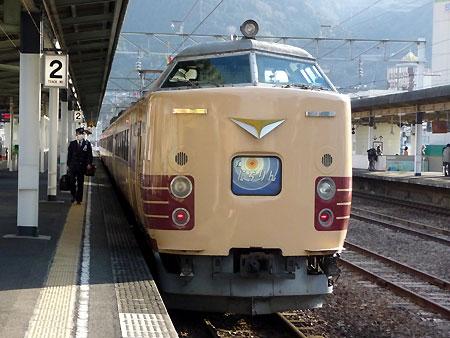 110310_485系・にちりん・別府駅