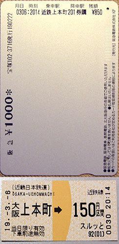 190312_レールウェイカード・近鉄切符