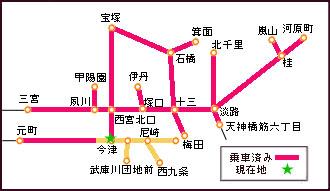 路線図・現在・今津駅