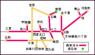 路線図・現在・箕面駅
